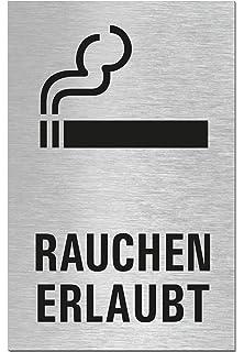 Toilettenschild l T/ürschild l Hinweisschilder Toilette Privat l 2er-Set l Aluminium Edelstahloptik l 60x100 mm l Sparversand l Nr.44688-S