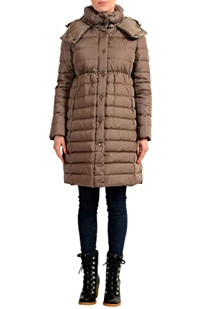 cdf7c0f5b Amazon.com: Moncler Women's ADOXA Gray Down Hooded Parka Coat Sz 1 ...