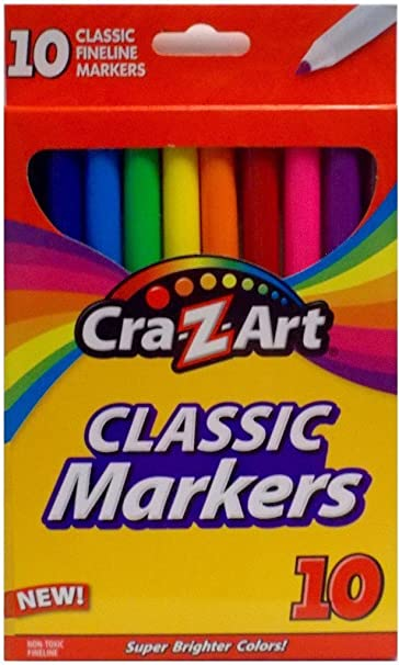 NEW Cra-Z-Art Classic Super Washable Markers 10 in Pack