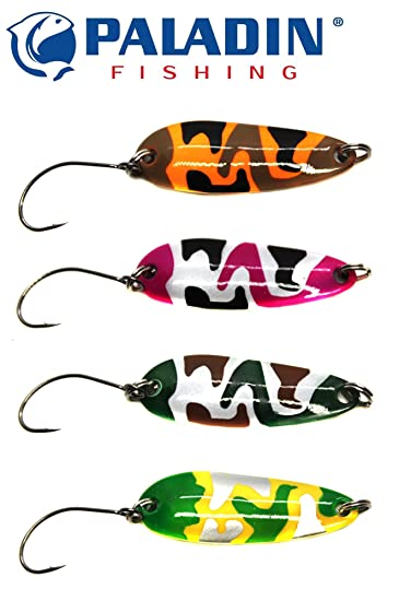 Kunstk/öder f/ür Forelle /& Barsch Blinker Zum Forellenangeln Forellenblinker Zum Spinnfischen Paladin Trout Spoon 3,8cm 3,6g