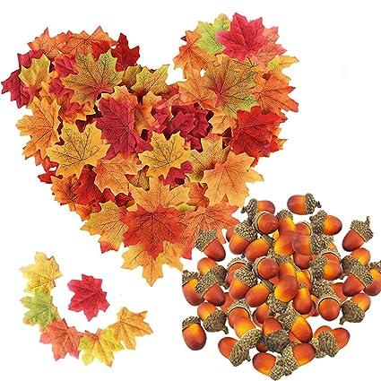 Package of 12 Artificial Berries Acorns Fall Stems Leaves
