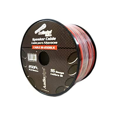 16 Gauge 250' Feet Red Black Speaker Wire Stranded Copper Clad Home Audio Sound: Automotive