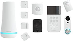 SimpliSafe 10 Piece Wireless Home Security System w/HD Camera and Video Doorbell - Optional 24/7 Professional Monitoring - No Contract