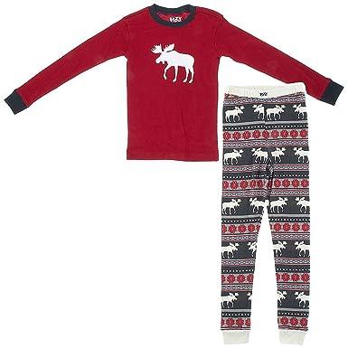 Amazon.com: Lazy One Kids Moose Fair Isle PJ Set (2T): Clothing