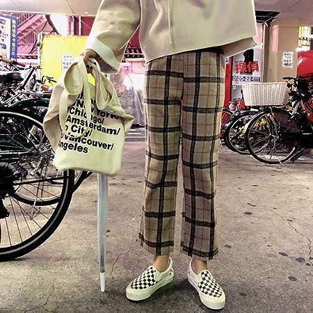 Dongwall Otoño e Invierno nuevos Pantalones Casuales de Lana ...