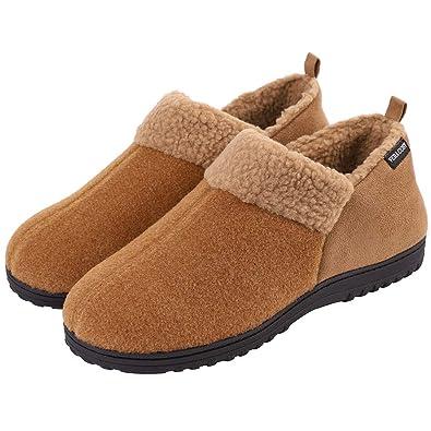 c2013cd91 VeraCosy Men's Wool-Like Fleece Clog Slippers, Comfort Memory Foam  Anti-Slip House Shoes: Amazon.co.uk: Shoes & Bags