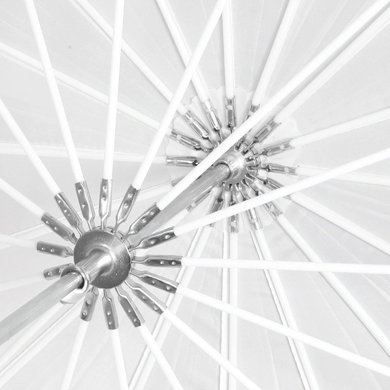 Blanco Suave Selens 165cm 16 Varillas Paraguas Difusor Profesional Transl/úcido Reflectante Parab/ólico con Fibra de Vidrio Costilla Fotograf/ía Estudio Fotogr/áfico Iluminaci/ón 58cm Profundidad