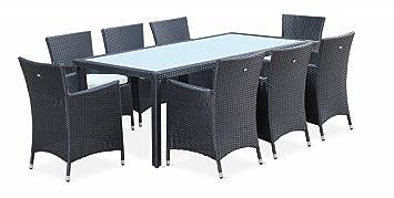 3ee8975f0b5b Alice's Garden - Conjunto de Mesa y sillas de jardín de Ratán sintético, 8  plazas