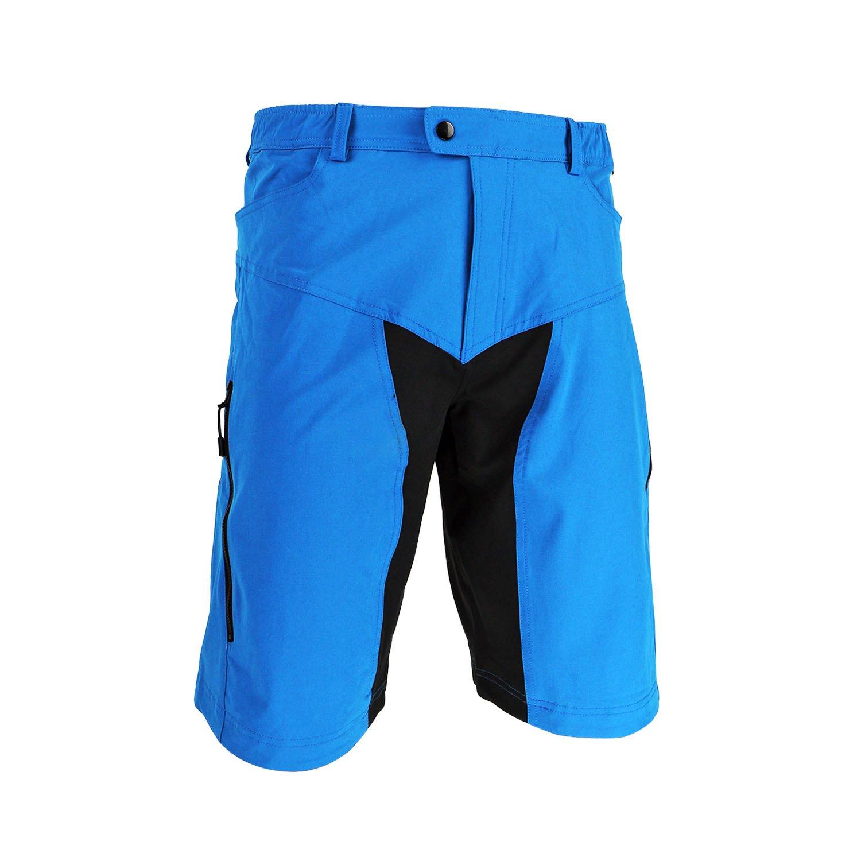 Tofernメンズ軽量アウトドアスポーツショーツバギーRunningジムワークアウトShort withポケット S (Waist 76-82cm/30-32 inches) ブルー B077TJ46BK