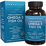 Omega 3 Fish Oil - Omega 3 Supplement with Essential Fatty Acid Combination of EPA & DHA, Triple Strength Wild Fish Oil softg