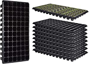 10 Pack Seed Starter Tray, 72 Cell Seedling Trays Plastic Gardening Germination Trays with Drain Holes Mini Propagator Grow Kit for Seedling Germination