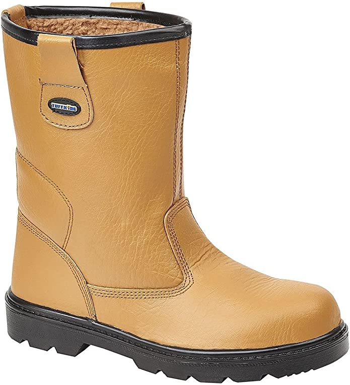 345-S5 /'Mens Rigger/' Steel Toe Cap Safety Boots With Fleece Lining