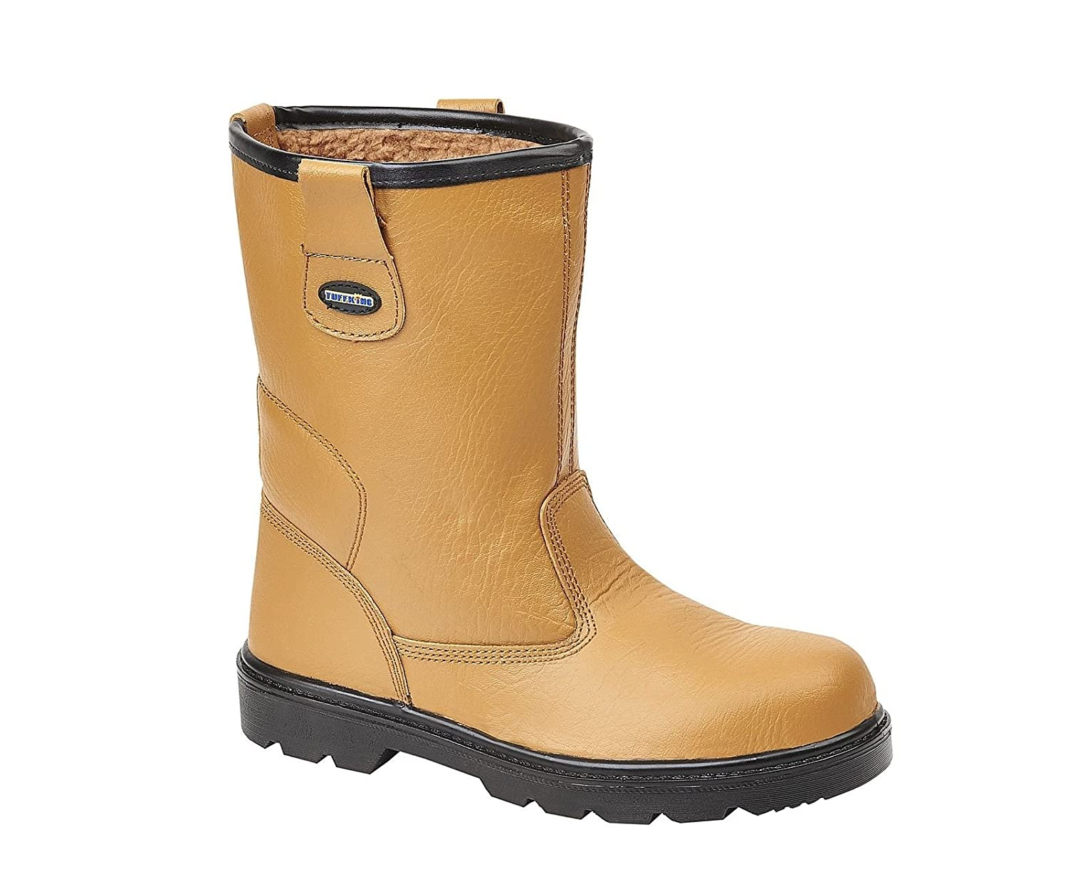 Tuffking 9050 S1P Mens Tan Fur Lined Steel Toe Cap Rigger Safety Boots Work Boot