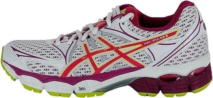 Asics T4A8N-2001 - Zapatillas de Deportes de Exterior de Sintético Mujer, Blanco (Blanco), 36 EU: Amazon.es: Zapatos y complementos