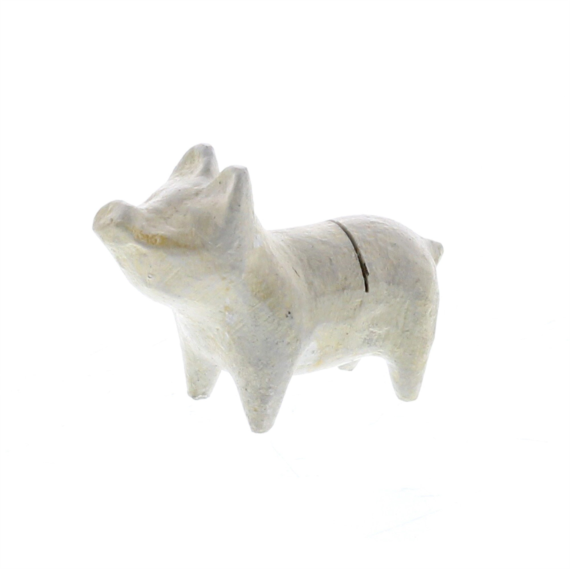 Rustic White Cast Iron Pig Place Card Holder Set 4 | Photo Party Stand