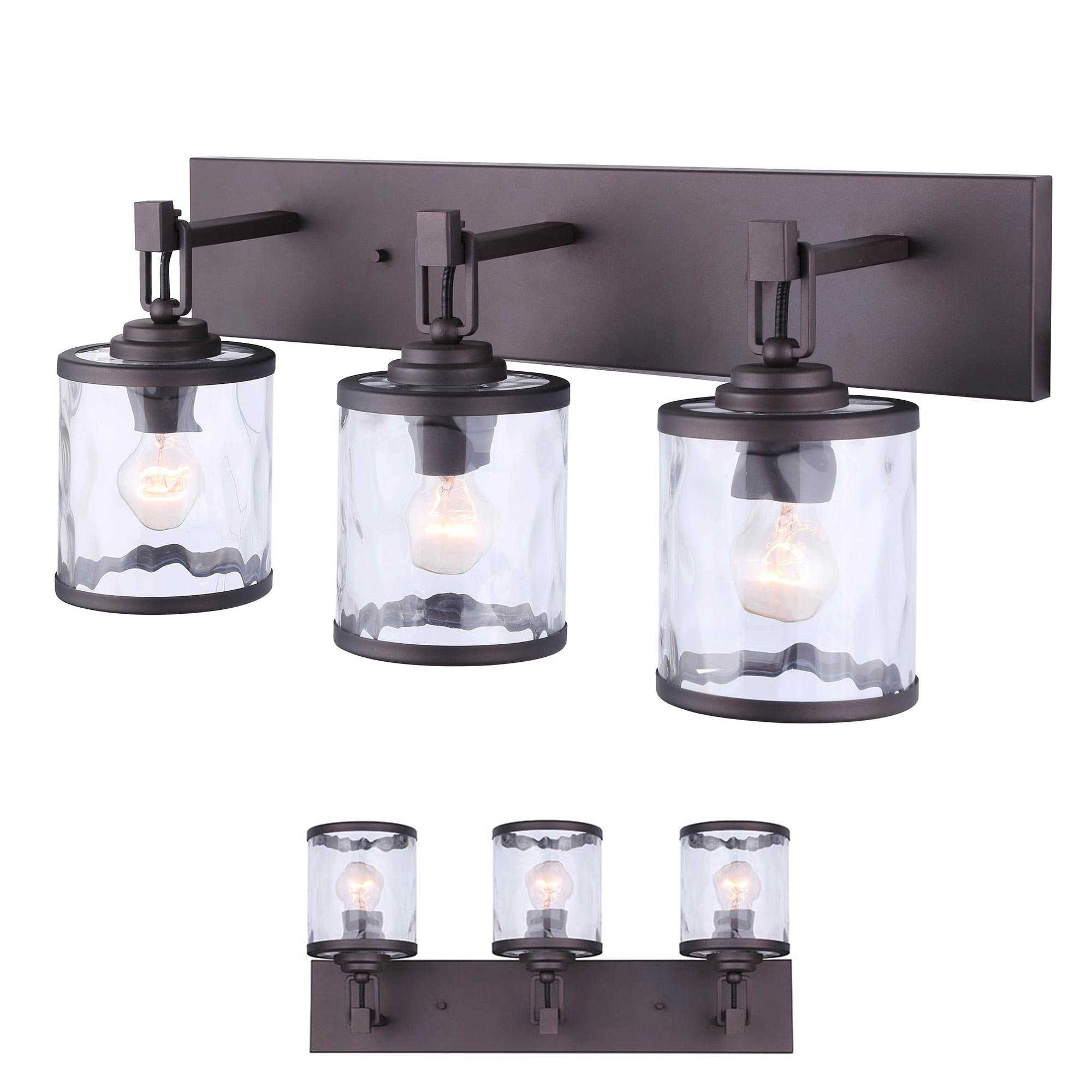 Oil Rubbed Bronze Vanity Bathroom 3 Light Bar Fixture ...