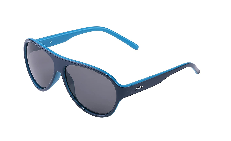 Gafas de sol MIRA MR-100 Unisex para niños - Lentes polarizadas con protección 100% UVA y UVB - Cómodo diseño retro - Incluye funda de presentación y bolsa ...