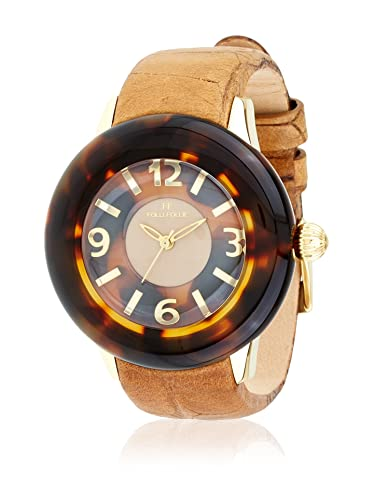 Folli Follie Reloj con movimiento Miyota Woman Tar-Tartaruga 40 mm: Amazon.es: Relojes