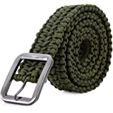 Tactical Waist Belt Survival Woven Belt For Camping, Hunting, Hiking, and Other Outdoor Activities(Length: 1.2 meters Can be Unraveled into a 28 Meters Parachute Cord,Pulling Force:550lbs)