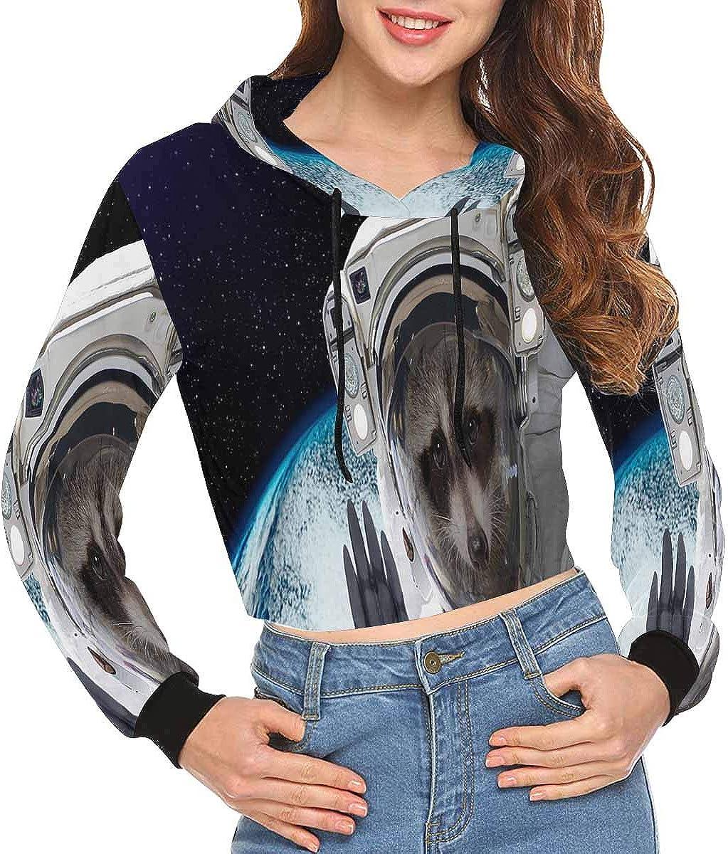 INTERESTPRINT Womens Crop Top Sweatshirt Hoodie XS-2XL