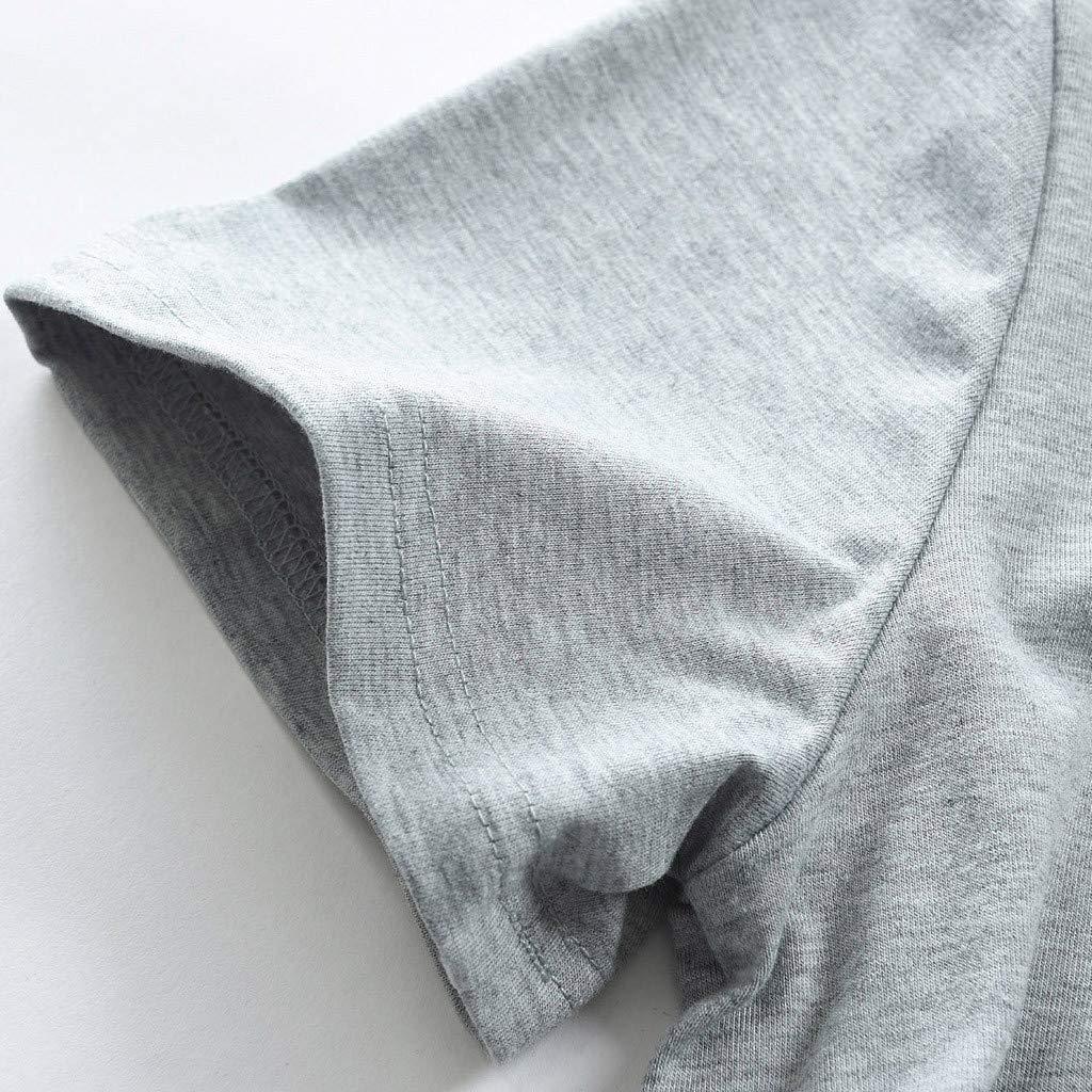 MCYs Damen Umstandsmode Umstandsshirt Stillshirt Schwangerschaft Kleidung Streifen Kurzarm T-Shirt
