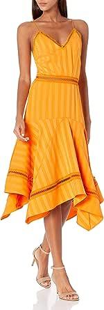 Keepsake the Label Women's Sleeveless A-line Arrows V-Neck Midi Dress