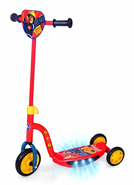 Amazon.com : Fireman Sam Rescue Light and Sound Tri Scooter ...