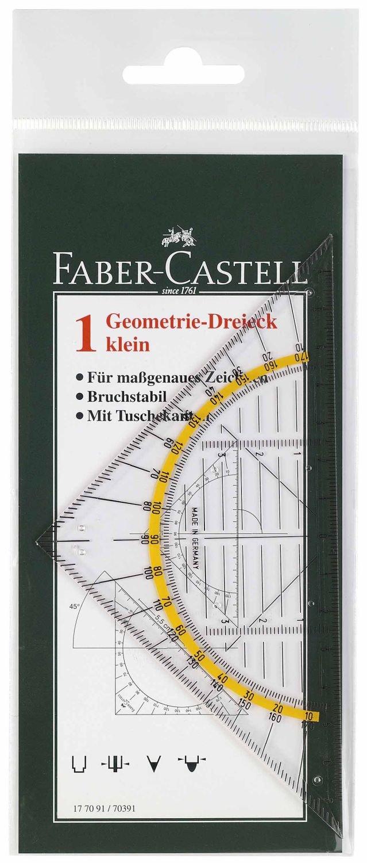 Faber-Castell 177091 - Geometrie-Dreieck klein, 14 cm Iden Nürnberg GmbH