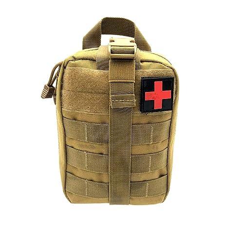Winbang Bolsa médica táctica, botiquín de Primeros Auxilios Bolsa táctica Molle Rip-Away EMT Bolsa IFAK Medical para situaciones de Emergencia táctica ...