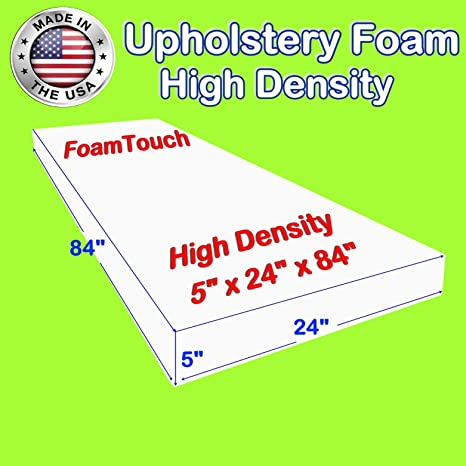 Upholstery Cushion Made in USA Firm GoTo Foam 3 Height x 40 Width x 80 Length 44ILD