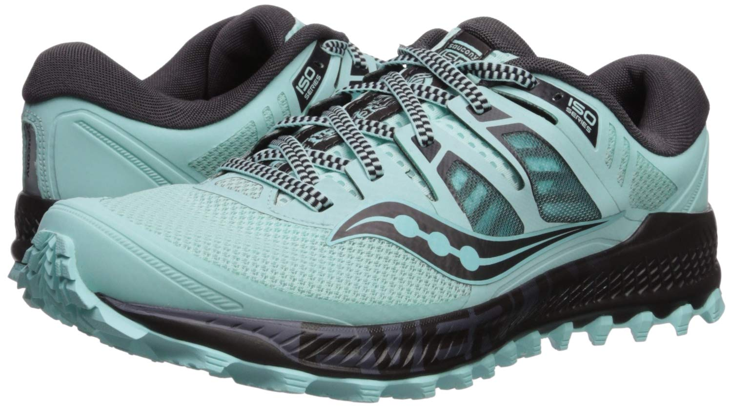 Saucony Women's Peregrine ISO Trail Running Shoe, Aqua/Grey, 5 M US by Saucony (Image #6)