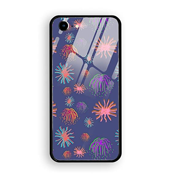 amazon com iphone 8 case iphone 7 case fireworks tempered glass