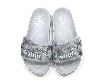 rihanna fenty puma slides grey