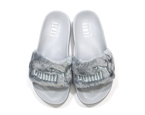 Puma X Rihanna Fenty Leadcat Fur Slide Women s Sandals Grey (UK 7   EU 40 1f82c2a26227
