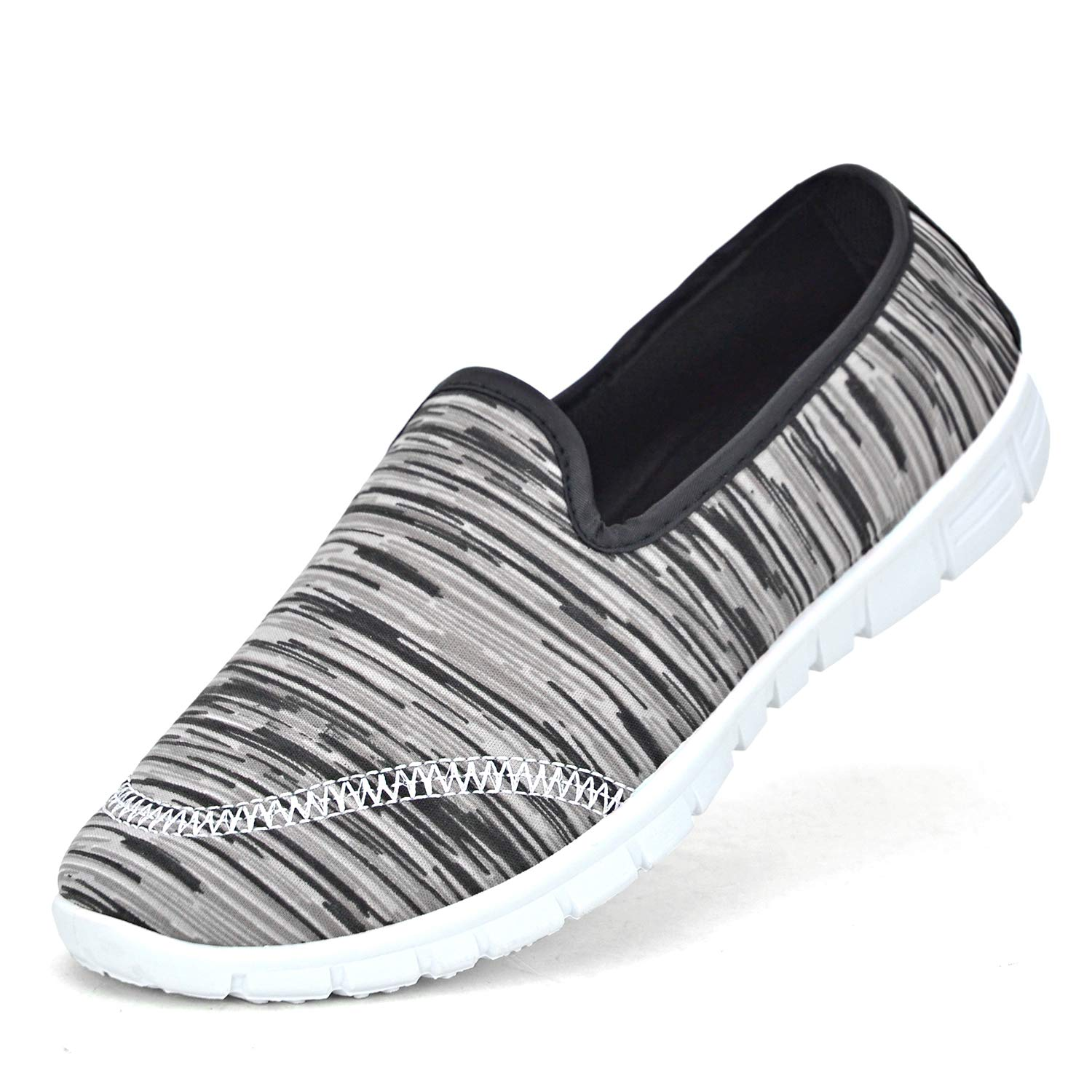 Women Lightweight Comfy Slip on Sneakers Ladies Casual Breathable Mesh Shoes Memory Foam