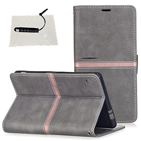 Tasche Luxus Hülle für Sony Xperia XA Ultra Leder Hülle