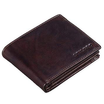 STILORD Guillermo Billetera de Cuero RFID Hombre con Bloqueo RFID Vintage Monedero Monedas Cartera de Cuero Auténtico, Color:Espresso - marrón: Amazon.es: ...