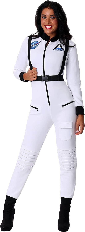 Women's Astronaut Costume White Astronaut Suit Costume