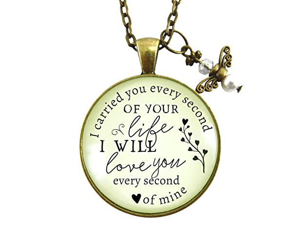 Amazon 24 i carried you every second of your life miscarriage 24quot i carried you every second of your life miscarriage necklace baby loss angel charm aloadofball Choice Image