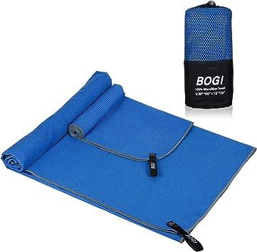 BOGI Microfiber Sport Travel Towel Set -SML XL- Quick Dry, Super Absorbent, Non Slip Yoga Towel- for Beach Bath Golf Gym Camp Hiking Baby Pool Large ...