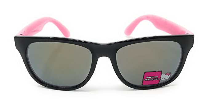 42320fb3a Hello Kitty Cute Girl's Sunglasses in Black and Pink - 100% UV Protection
