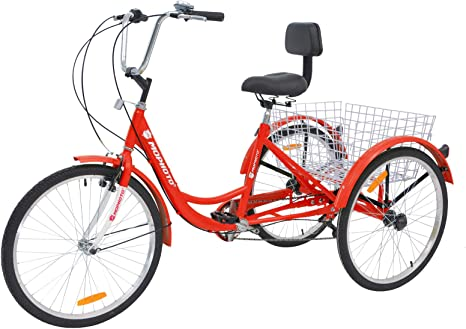MOPHOTO Tricycles para adultos 1/7 velocidad bicicleta de tres ...