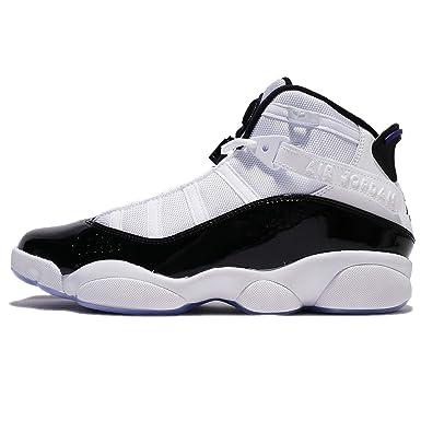 4fdc2ce2e11b29 Nike Jordan 6 Rings Concord - 322992104 - Color White-Black - Size  10.0   Amazon.co.uk  Clothing
