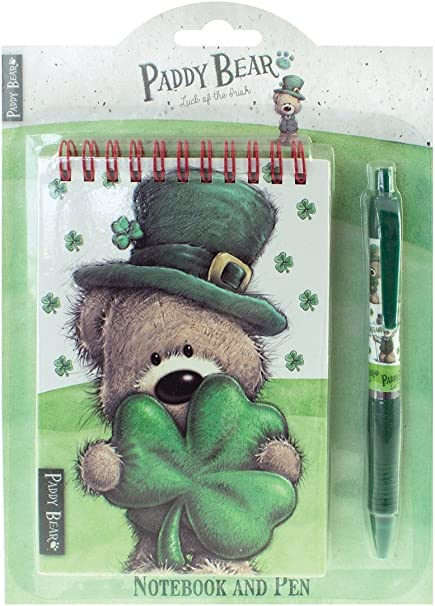 Shamrock Gift Co Paddy Bear Notebook And Pen Set Office Products Amazon Com