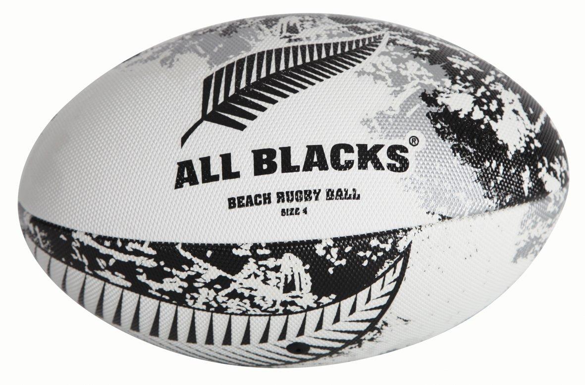 New Zealand Tout Blacks International Plage Rugby Balle - Taille 4 Gilbert GIL288-NZ