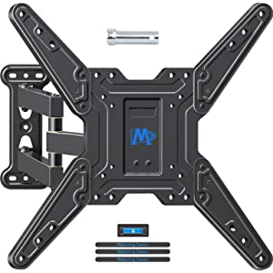 Mounting Dream Tilting Full Motion TV Mount for 26-55 Inch Flat Screen TV, TV Wall Mount Bracket with Swivel Articulating Arm, up to VESA 400x400mm and 60 lbs, Perfect Center Design & Fits Single Stud