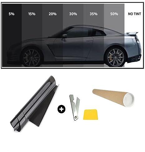 Pellicola Vetro Oscurante.Flexzon 76cm X 6 Metri Pellicola Oscurante Per Vetri Auto Nero 5 Vlt Super Nero