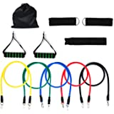 Resistance Bands, Chnano 11Pcs Heavy Duty Exercise Bands, Workout Bands Stretch Exercise Pull up Rubber Bands for Men Women Home Gyms Yoga Physical Therapy