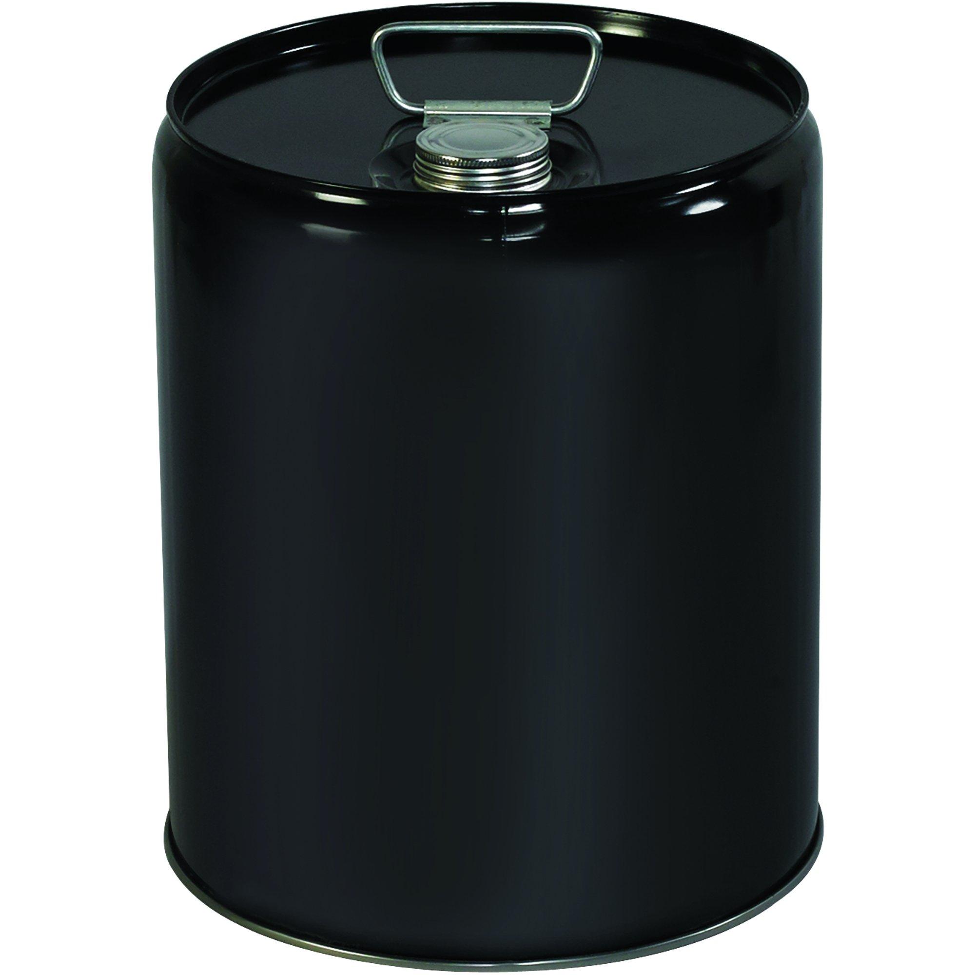 BOX USA BHAZ1077 Metal Pail, Closed Head, 5 Gallon, Black (Pack of 1 Each)