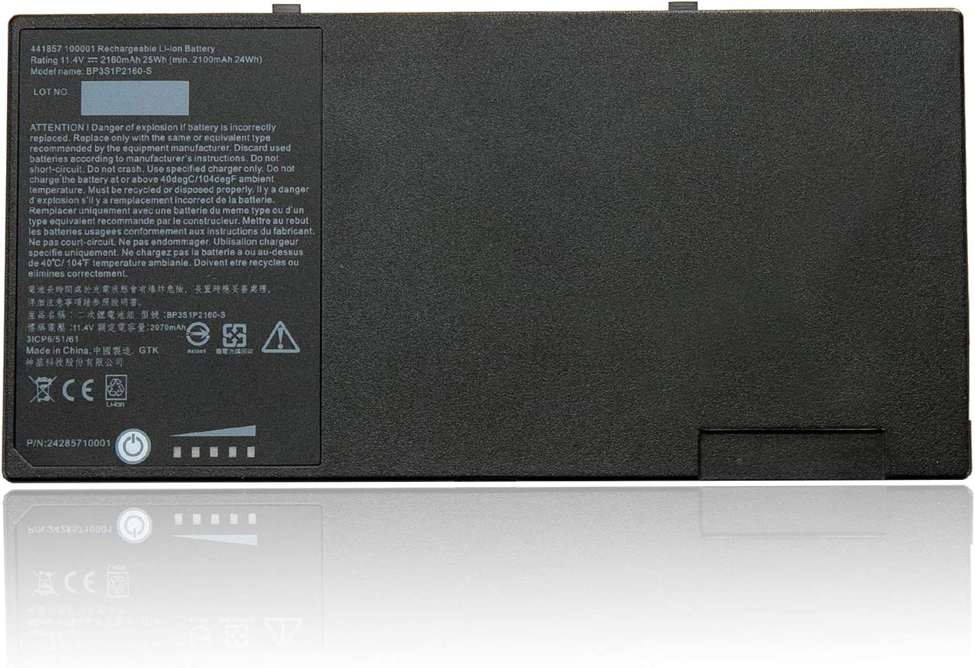 TanDirect BP3S1P2160 F110 25Wh Replacement Laptop Battery Compatible with Getac F110 Tablet BP3S1P2160-S 441857100001 3ICP6/51/61 (11.4V 2160mAh)